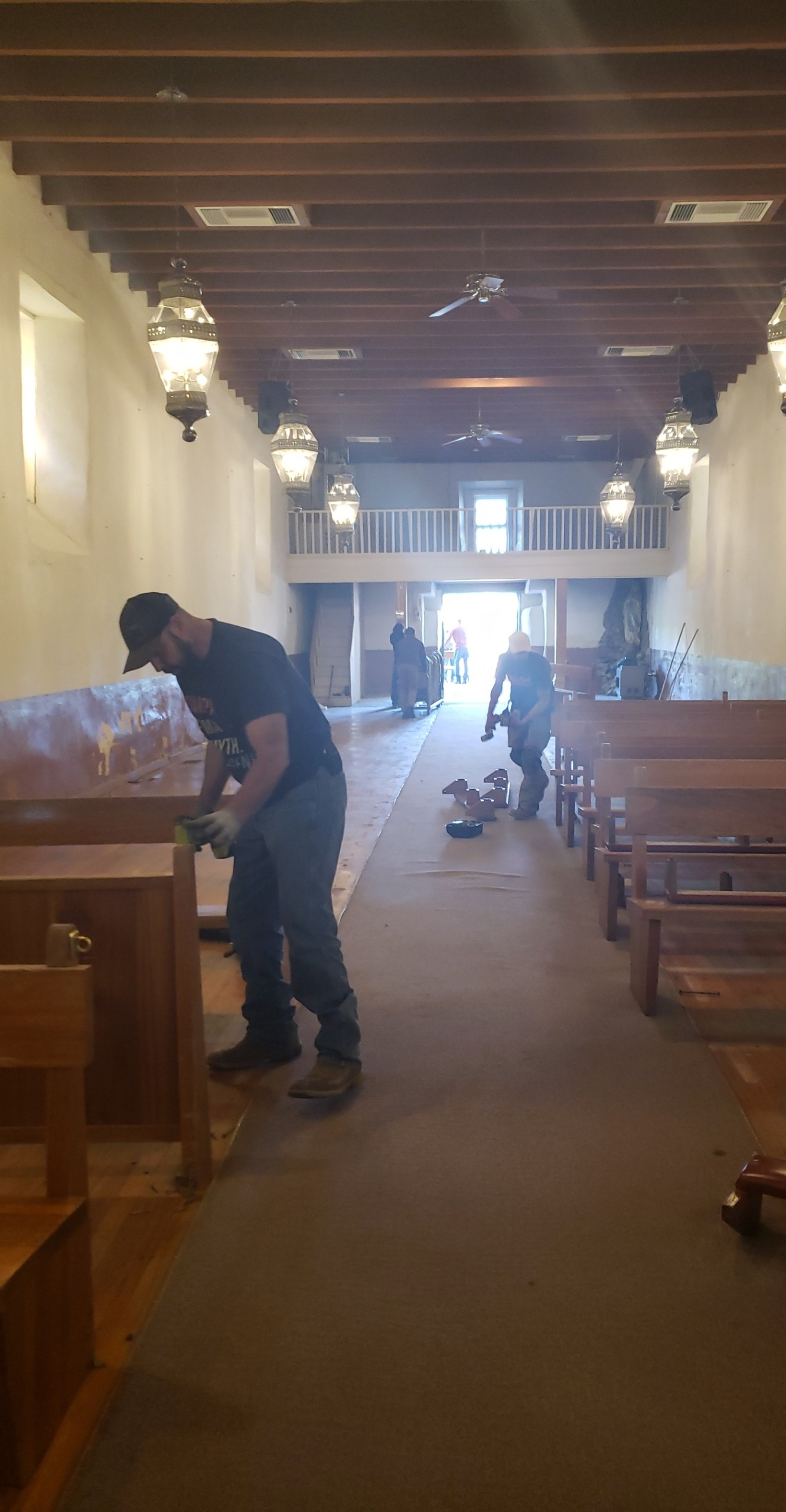 Preparing the Church for Demolition of Old Floor
